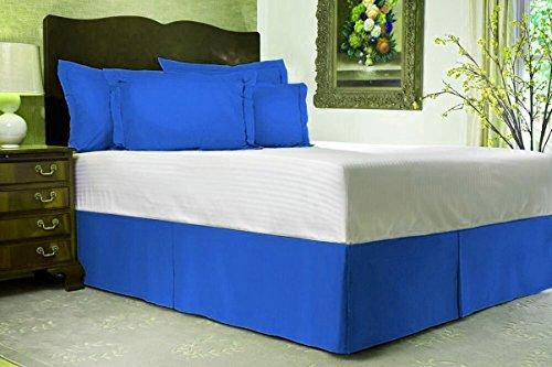Hotel Luxus Bett Rock 400-tc (Fadenzahl) Platinum Collection. SOLID 1-pc Split Ecke bed-skirt mit 15,2cm Zoll Drop Länge (cal-king Größe & alle Farbe), baumwolle, königsblau, Cal-King Bed-Skirt 6