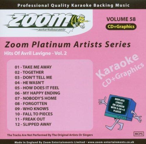 Zoom Karaoke CD+G - Platinum Artists 58: Avril Lavigne 2 by Zoom Karaoke