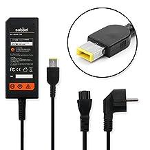 subtel® Fuente de alimentación (20V,65W) para Lenovo B40/B50/B70/E31/E50/G40/G50/G70/U31/U41/Z50/Z51/Z70/X1 (2.2m) cable de corriente Cargador ordenador portatil