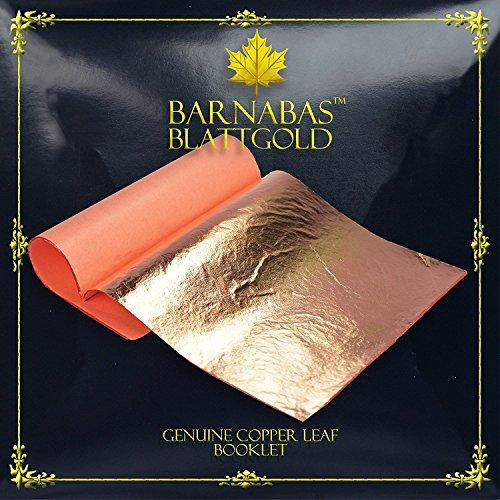 Pan de Cobre Auténtico , 14 X 14cm, Librillo de 25 Hojas