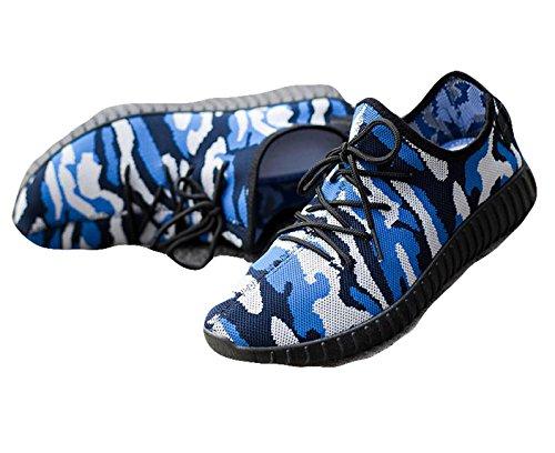 Ein Bißchen Herren Sportschuhe casual Freizeitschuhe mode schlicht sneaker Blue