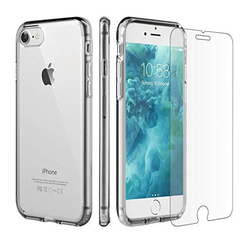 Funda-de-iPhone-7-Protector-de-pantalla-iPhone-7-Younik-Carcasa-dura-hbrida-protectora-y-de-poliuretano-termoplstico-TPU-de-alta-calidad-y-un-protector-de-pantalla-de-vidrio-templado-y-cristal-transpa