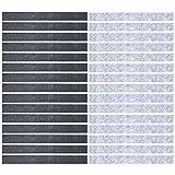 Mehrondo 30 Stück Filzstreifen Rohlinge FS209HDG, Dunkelgrau sowie Hellgrau 250x25x3 mm vorgeschnitten — ideal zum kreieren von Schlüsselanhänger und Schlüsselband