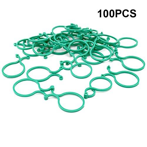 100 Stück Pflanzen Clips Pflanzen Klammern Pflanzen Ringe für Pflanzen Unterstützt Sicherung Vine Gemüse (Klammern Ranken)