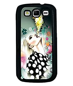 Fuson Girl With Fire Back Case Cover for SAMSUNG GALAXY S3 - D4069