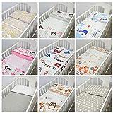 2 Piece Bedding Set 135x100cm Duvet Cover & Pillowcase for Toddler Cot Bed