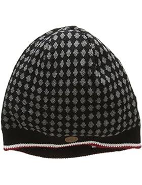 Merc of London Bonnet Tricot à Losanges Knepp, Sombrero de Sol para Hombre, Noir (Noir), Talla única