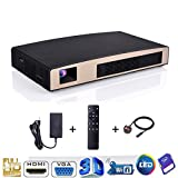 feiledi Trade Mini X6 LED Wireless Multimedia Kino Home Theater Video Business Präsentation Projektor mstar638 Dual-Core 1080P Full HD 3D
