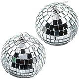 Plata Bola de Discoteca bola de espejos para fiestas dekoration  70años ochenta Fiesta temática decorativa   Inyección Extremo SGP Cristal, plata