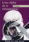 La Métaphysique (livre Alpha) - Mille et une nuits - 05/06/2002
