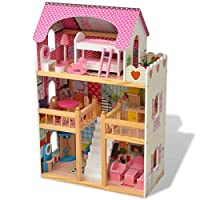 SOULONG 3-Storey Dollhouse Children
