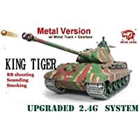 2.4G radio remote control heng long German King Tiger 1/16 shooting / smoking Pro Metal Tracks / Metal wheel / Metal Gearbox Big Boyz® - Compare prices on radiocontrollers.eu