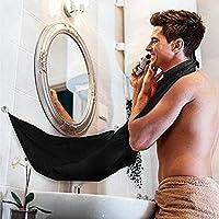 Beard Tablier, SUNNIOR Rasage Toilettage Tablier avec 2 Coupes Miroir d'aspiration Laissez votre salle de bains nettoyer, la barbe cadeau meilleur rasage!