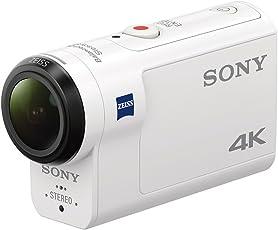 Sony Action Cam FDR-X3000 Digital 4K Video Camera Recorder (White)