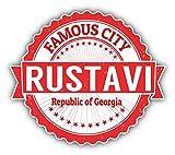 Rustavi City Georgia Grunge Travel Stamp Hochwertigen Auto-Autoaufkleber 12 x 10 cm