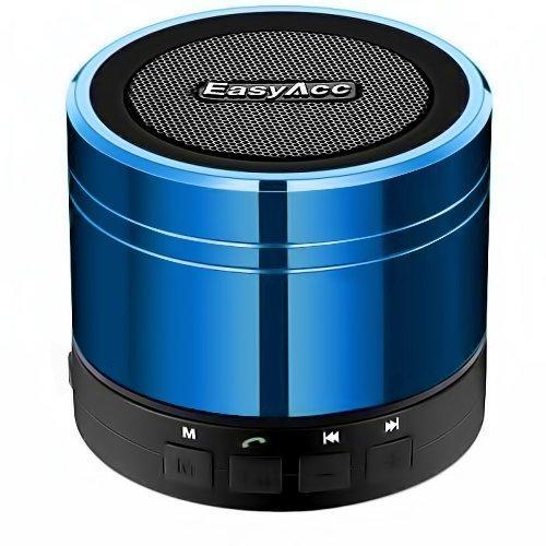 EasyAcc® Mini Altoparlante Bluetooth portatile ricaricabile , bluetooth boxe Wireless Speaker per iPhone , iPad, iPod , Samsung , smartphone, tablet PC, laptop , Ultrabook , con microfono , supporto micro SD card di gioco e la funzione FM -Blu