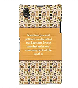 PrintDhaba Quote D-3692 Back Case Cover for SONY XPERIA Z1 (Multi-Coloured)