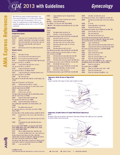 CPT Express Reference Coding Cards 2013: Gynecology