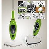 Scopa a Vapore elettrica Lavapavimenti x10 in 1 Steam mop Con molti accessori e panni inclusi. Ideale per bagno