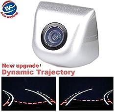 Auto Wayfeng WF® verdrahtete hintere Heckklappe dynamische Trajektorie-Rückspiegel-Auto-Kamera bewegliche Richtlinien, Silber
