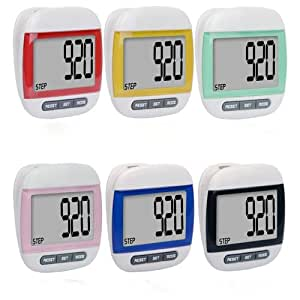 LCD Digital Pedometer Step Run Distance Calorie Walking Counter Pocket Clip