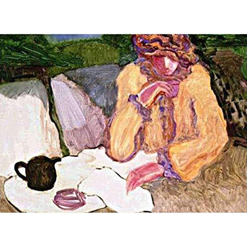 Barbara Holz Tea Time mit Margaret 1980 Original Lithograph S-S-S-S
