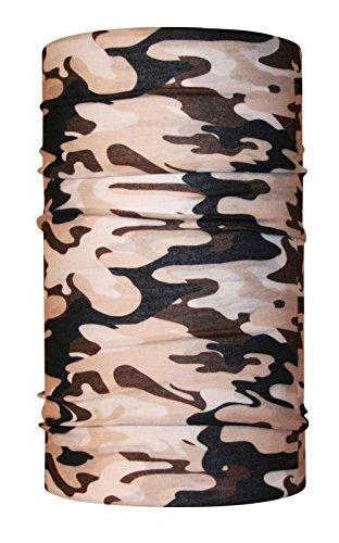 headloop Multifonction Chiffon Camouflage désert Loop Tuyau Chiffon écharpe Foulard tête en Microfibre