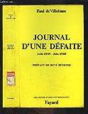 Journal d'une défaite - 23 août 1939-16 juin 1940 (Les Grandes études contemporaines)