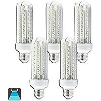 Aigostar - Pack de 5 Bombillas LED T3 4U, 15W, casquillo gordo E27, 1200 lumen, luz blanca 6400K[Clase de eficiencia energética A+]
