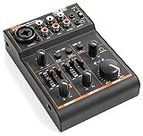 Power Dynamics PDM-D301 • Table de mixage 3 canaux • carte son USB • égaliseur 2 voie • Entrée combinant jack/XLR avec alimentation fantôme +18 V • 1 canal d'entrée stéréo avec régleur de volume