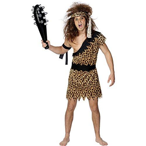 Smiffys Herren Höhlenmensch Kostüm, Tunika, Stirnband und Armband, Größe: XL, 20443 (Caveman Kostüme Für Kinder)