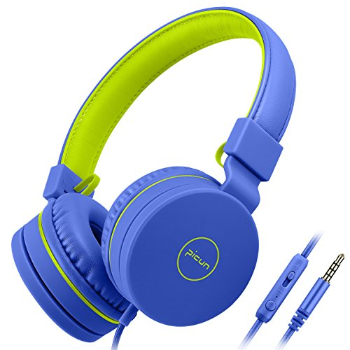 Kopfhörer Kinder, Homga Kinder Kopfhörer 3.5mm mit Mikrofon, Faltbarer Audio Kinderkopfhörer für Smartphones Tablets und MP3 / 4, Headsets für Kinder (Ziel-kopfhörer)