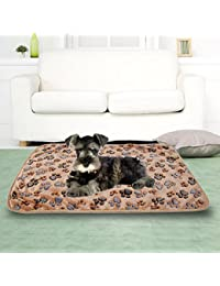 Rrimin Cashmere Soft Cushions Bed Coral Blanket Mat for Pet Cat Dog