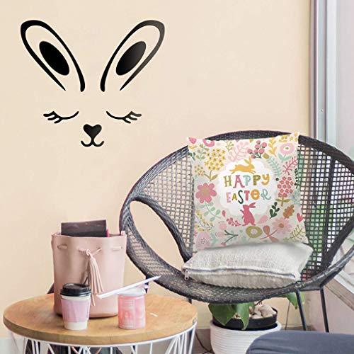Mitlfuny -> Haus & Garten -> Küche ,Wandtattoos Abnehmbare Peel and Stick PVC-Wandaufkleber Easter Bunny Art Murals