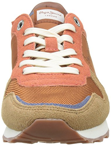 Pepe Jeans Londra Damen Verona W Mix Sneaker Orange (scultura)