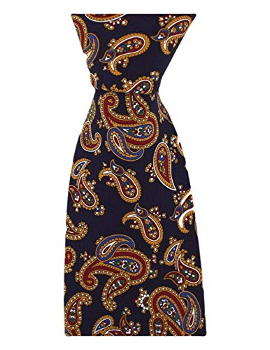 David Van Hagen Cravate marine vintage de