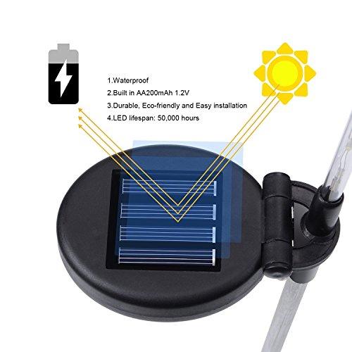 Hardoll LED Solar Garden Stake Light (Pack of 3, Black)