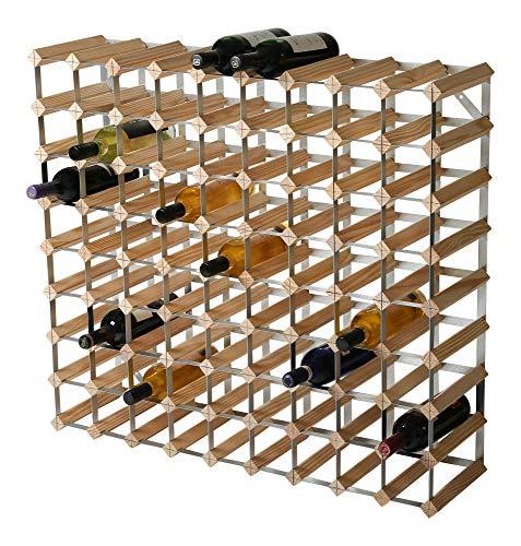 RTA Traditionelles Weinregal für 80 Flaschen, Kiefer