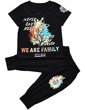 Vividda Conjunto de ropa de Niños Chicos Tops Camiseta de letra + Pantalones de harem Trajes
