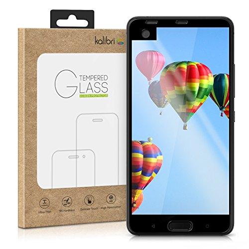 kalibri-Echtglas-Displayschutz-fr-HTC-U-Ultra-3D-Schutzglas-Full-Cover-Screen-Protector-mit-Rahmen-in-Schwarz