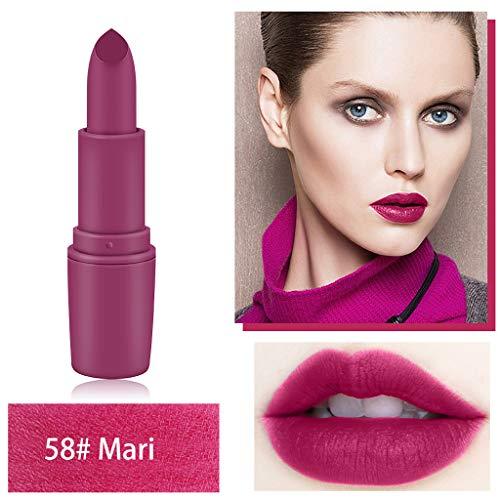 Mitlfuny Puff Nailart Lippenstift Lidschatten Beauty Tools Concealer,MISS ROSE 12 Color Star Matte Lipstick Einfach zu färben Lippenstift Lip Makeup