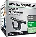 Rameder Komplettsatz, Anhängerkupplung starr + 13pol Elektrik für Skoda SUPERB II Kombi (143249-08495-1)