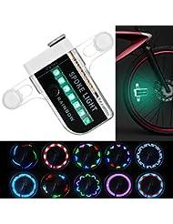 Wini bicyclette roue LED, étanche 14 LED colorées Spoke Light, Outdoor équitation avec 30 changements de modèles différents.