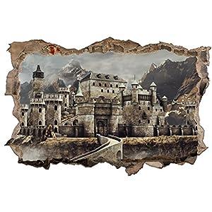 Alte Burg Schloss Mittelalter Fantasy Wandtattoo Wandsticker Wandaufkleber D0620 Größe 100 cm x 150 cm