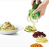 Cortador en espiral manual para verduras, espagueti, patatas o calabacín, pepino, pelador de pepinos, rallador de zanahorias, etc