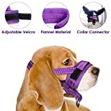 Nasjac Dog Muzzle, Adjustable Loop, Soft flannel Padding, Comfortable Nylon Breathable Secure Quick