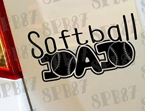 Softball Dad Ball Game Sports Baseball Hobby Funny car bumper window funny vinyl Van Laptop Love Heart decor Home Live Kids funny wall art decal stickers Motorcycles