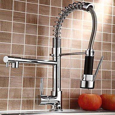 Shuyou® contemporaine Finition chromée Poignée simple gigogne robinet de cuisine