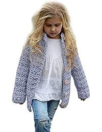 Kobay Kleinkind Kinder Baby Mädchen Mode Outfit Kleidung Button Strickpullover Strickjacke Mantel Tops