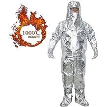 Webetop alluminio Lamina resistente al calore radiazione termica 1000 gradi centigradi a prova di fuoco Suit, XL